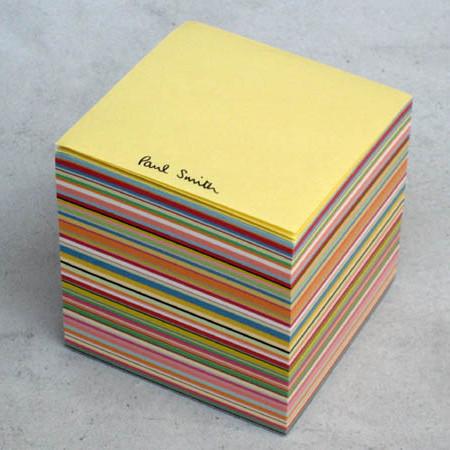 お洒落なポール・スミスのブロックメモ。おそらく非売品