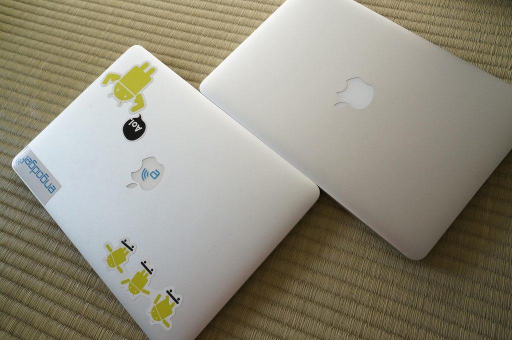 MacBook Air 13インチから MacBook Pro Retina 13インチに買い替えました。