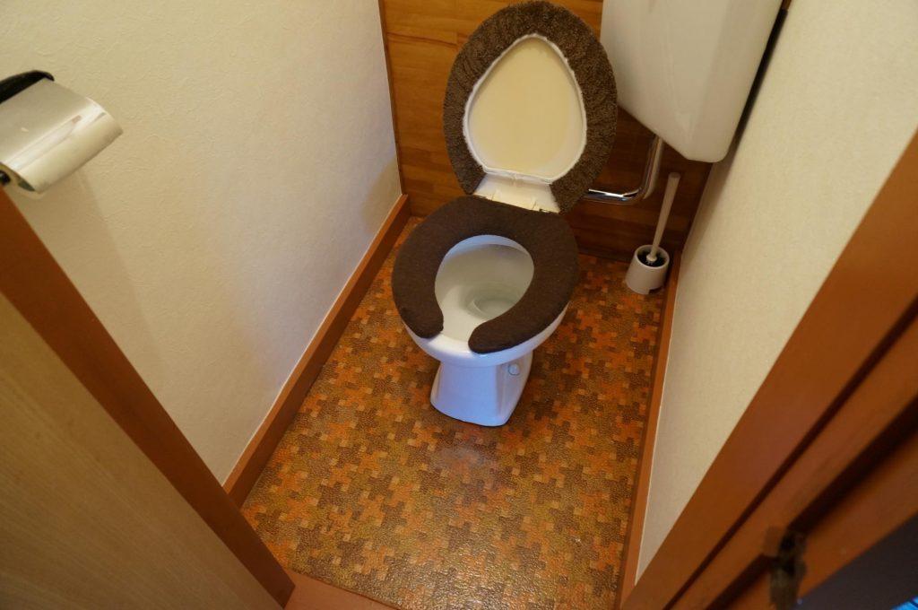 セリアのリメイクシートでトイレの壁と床をDIY-before