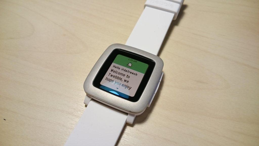 【Pebble Time】ツイートやRT、タイムライン表示ができるツイッターアプリ『Twebble』
