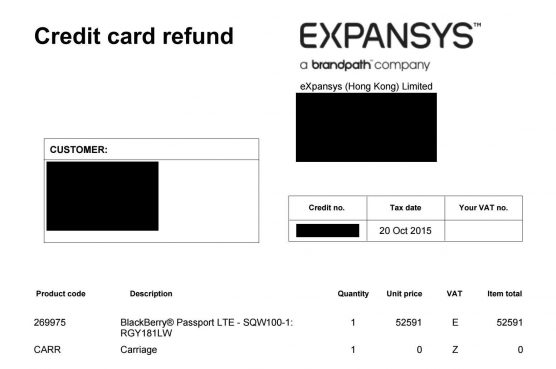 expansys-refund