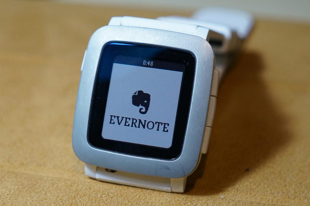 【Pebble】Evernote for Pebbleがサポート終了。公式に「Powernoter」を推奨