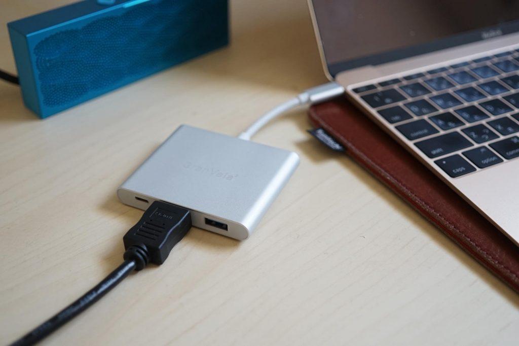 【新型MacBook】USB Type-Cで充電しながらHDMI&USB接続。純正Multiportの半額