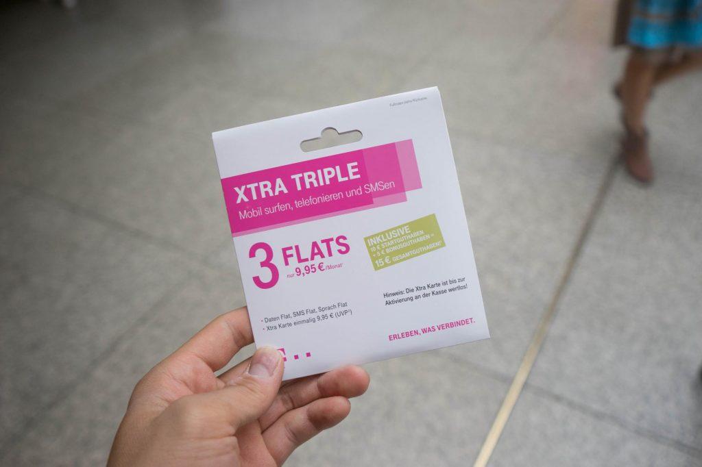 ドイツの SIM なら「T-Mobile Xtra-Triple」。通信速度や容量、チャージ方法などレビュー