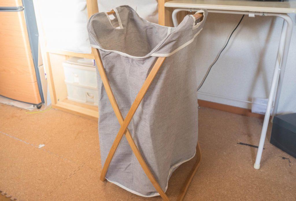 一人暮らしに丁度良い。竹のフレームがお洒落でシンプルな「ランドリーラック」レビュー。