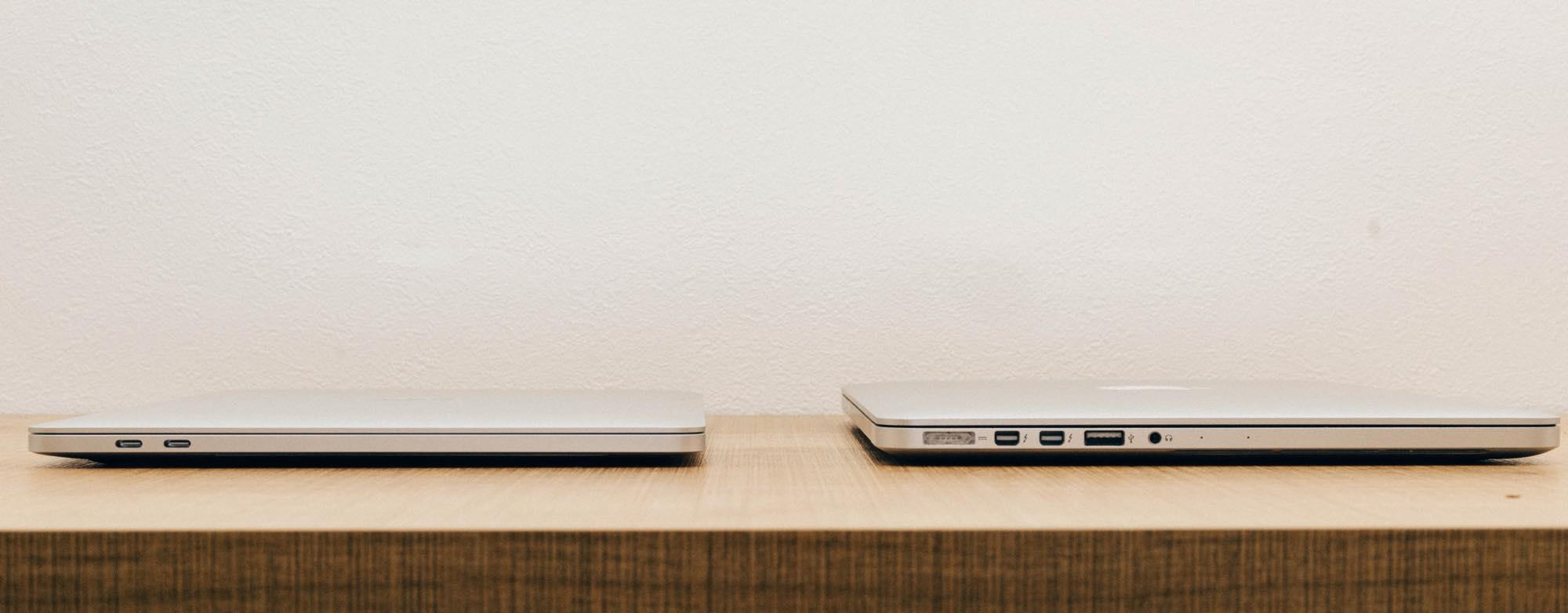 新しいMacBook Proと古いMacBook Proのポート比較