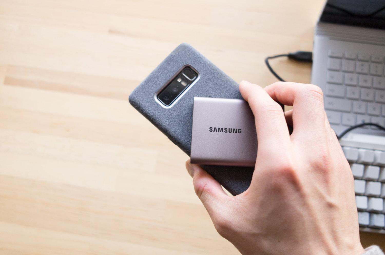 ポータブル SSD『サムスン T3 500GB』はスマートフォンにもデータ転送ができる