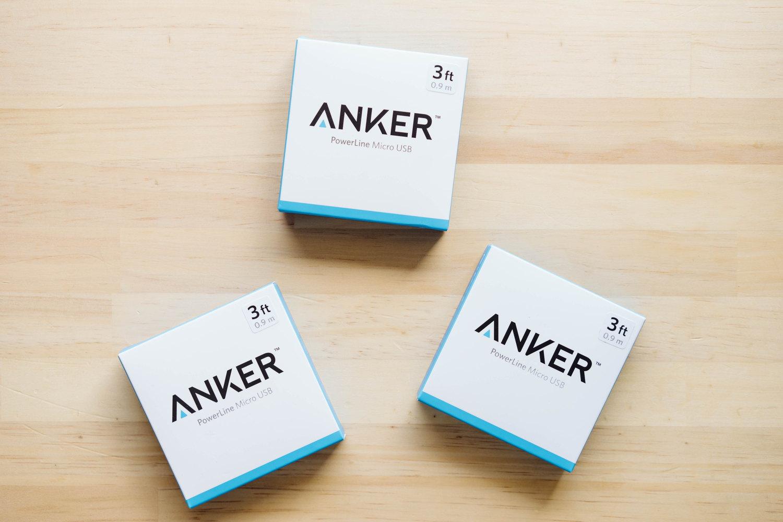 AnkerのmicroUSBケーブルのパッケージ