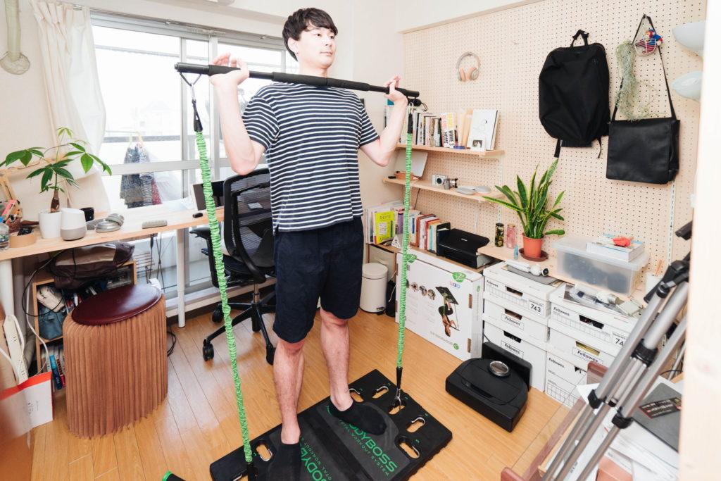 身体を鍛えて夏を迎えにいこう。元器械体操部が持ち運べるジム『BODYBOSS 2.0』でトレーニング[PR]