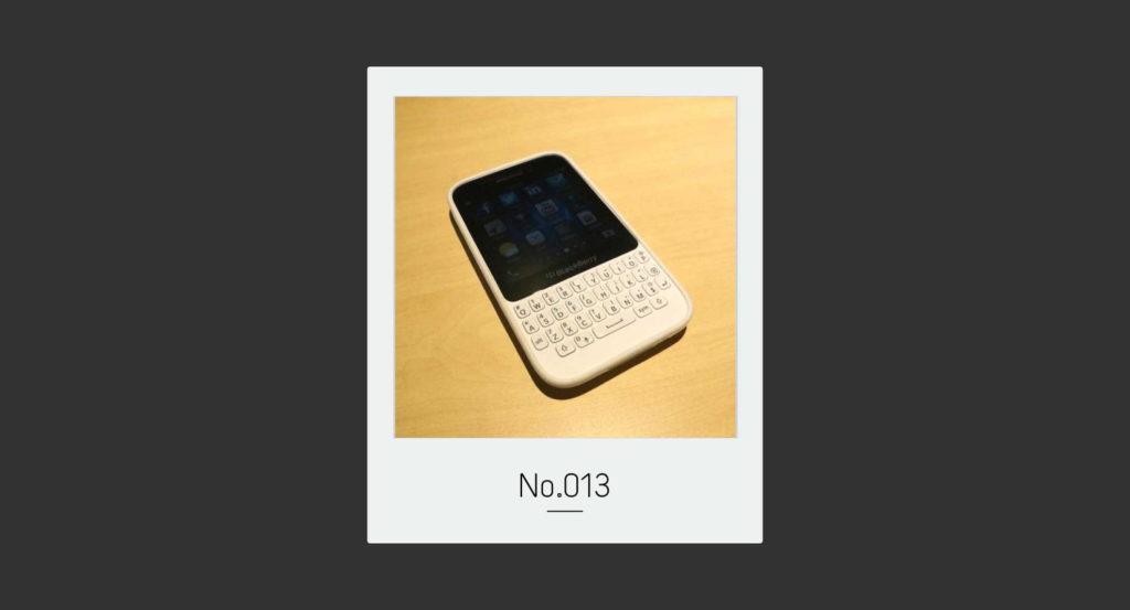 僕の記憶の BlackBerry はいつもホワイトだった。|トバログのモノ語りNo.013